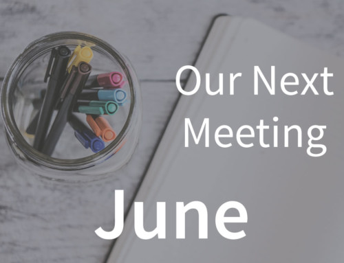 Our Next Meeting | June 8, 2019